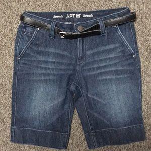 Apt. 9 dark wash Bermuda Shorts with a belt!!